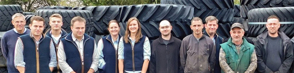 A picture of the Ag Wheel Exchange team.